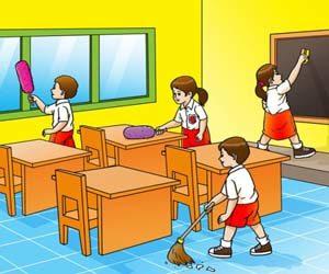 Mading kebersihan lingkungan sekolah