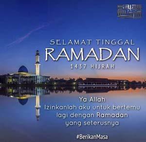 Gambar kata bulan ramadhan berakhir